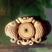 Koi Fish Pendant – Handcrafted Yak Bone Pendant