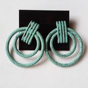 Oxidized Copper Style Vintage Hoop Earrings