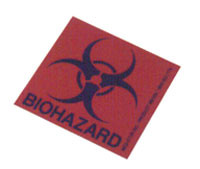 Permanent Biohazard Label BH33AS