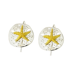 Reyes Del Mar Sand Dollar Earrings