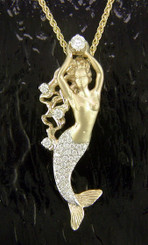 Steven Douglas Sterling 14k gold Mermaid w/ diamonds