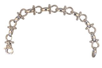 Medium Sterling Silver 8 inch shackle braclet