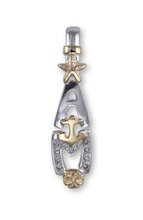 LargeTwo tone AMI Pendant w/ Diamonds