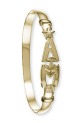 4mm 14k gold AMI bracelet
