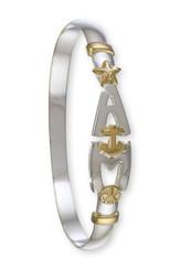 3mm two tone Anna Maria Island bracelet