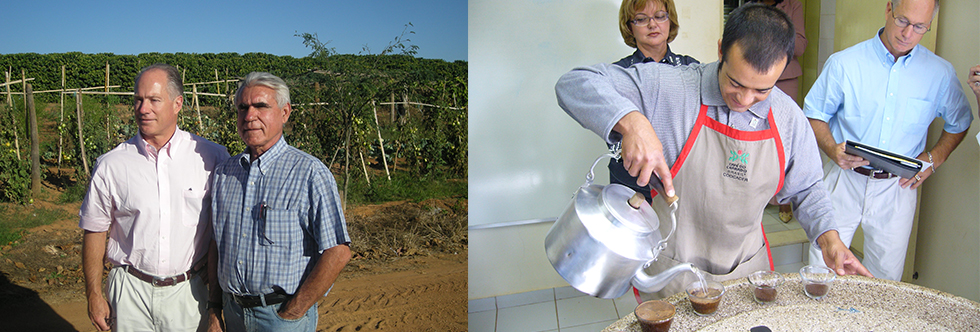 Visiting the coffee farms in Brazil