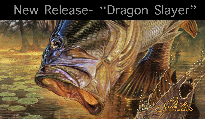 largemouth bass, art, painting, jason mathias, new release, big bass, jumping, leaping, hungry, freshwater, fishing, gamefish, sportfish