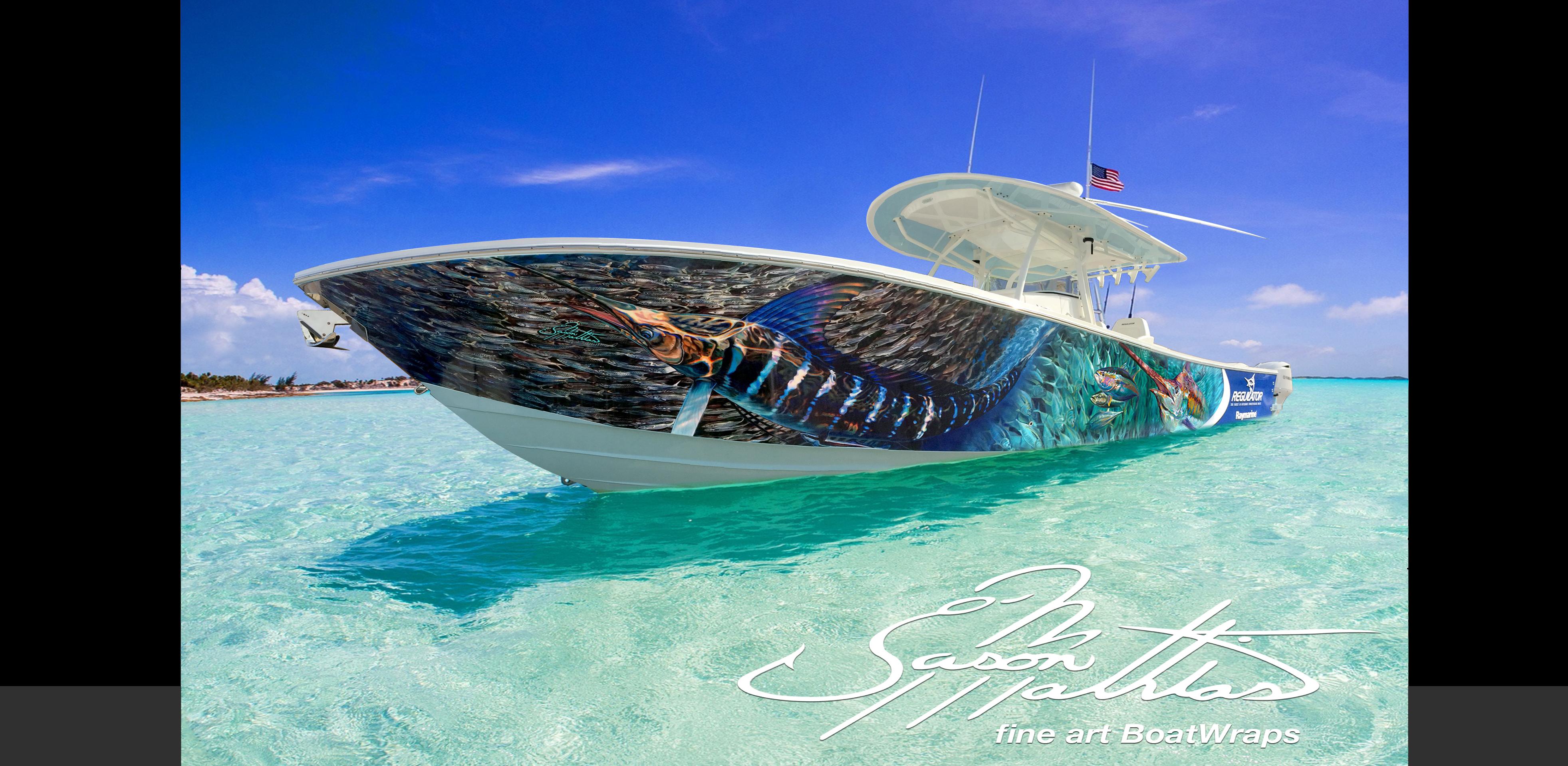 boat wraps art designs ideas concepts gamefish fis