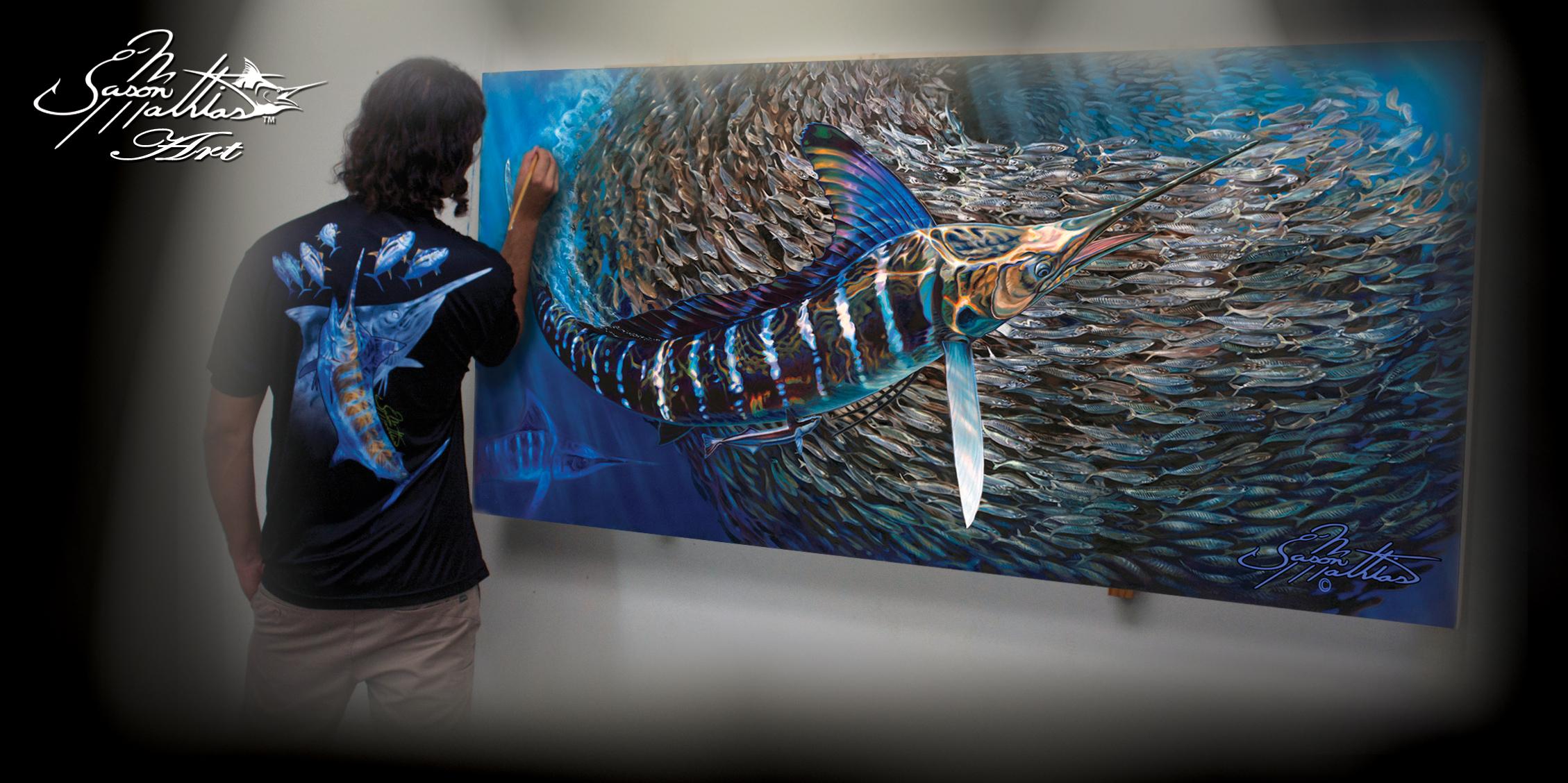 jason mathias, gamefish, art, sportfish, sport fish, game fish, prints, originals, paintings, pictures