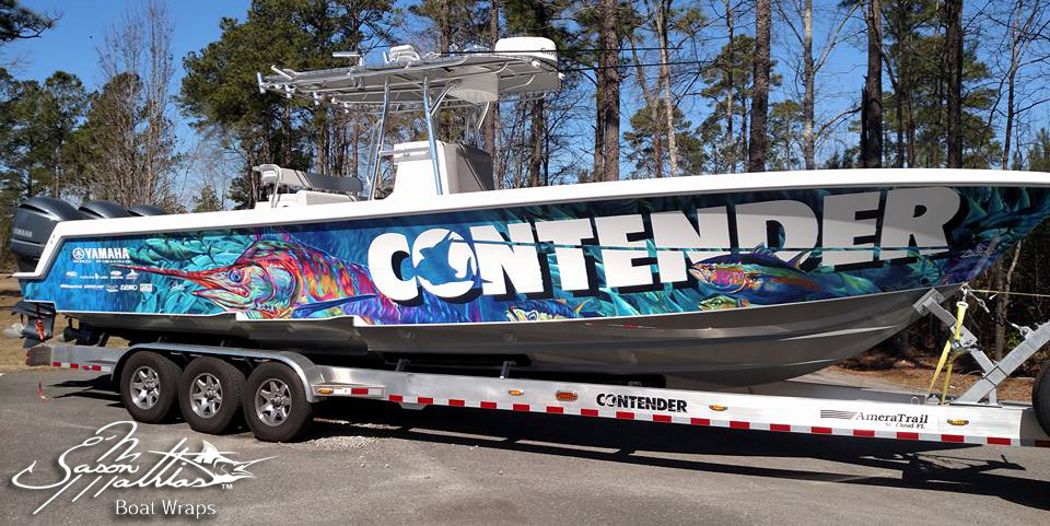 Jason Mathias Boat Wrap Designs - Cool boat decals