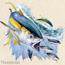 Yellowfin tuna, art