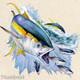 Yellowfin tuna, art