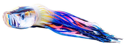 The Jason Mathias Fine Art Baby Yellowfin Big Game Teaser is sure to land you a Grander? Or just teasing that tournament winner to the boat? TheBost #29 Baby Yellowfin Big Game Teaser does it both. Created from a beautiful piece of artwork by artists Jason Mathias, this Teaser is sure to fool any Marlin. All handmade in the USA!
