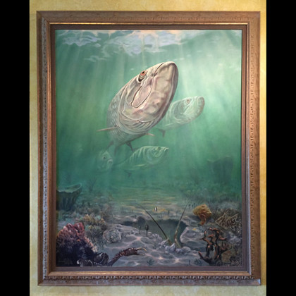 Original oil painting by Jason Mathias. Tarpon.
