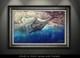Framed art blue marlin by Jason Mathias
