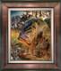 Original frame. Largemouth Bass Jason Mathias art.