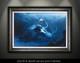 """Framed fine art prints"" by artist Jason Mathias of a beautiful mermaid and pirate skull."