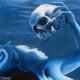 """Detail"" of Lost Love, a beautiful mermaid painting by artist Jason Mathias."