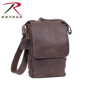 Rothco's Brown Leather Tech Bag is part of Rothco's premium collection of rugged military style leather bags. The tech bag features a padded interior that is the perfect fit for an iPad or tablet, with antique brass hardware, top zipper closure, and front pocket with snap front closure.
