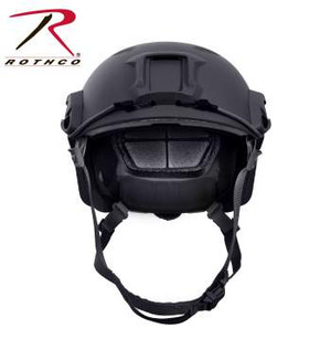 Rothco's Advanced Tactical Adjustable Airsoft Helmet is a lighter, more advanced version of Rothco's Base Jump Helmet. The Advanced Adjustable Airsoft Helmet is made of lightweight ABS plastic with 8 diamond shaped vent holes to keep the head cool; 5 removable/ adjustable EVA foam cushion interest with loop attachments, integrated military style head-lock chinstrap with side release buckle, rear dial helmet adjustment, 2 multi-position accessory side rails (side rails that fit Rothco's Base Jump Helmet Accessory Pack – item #1895), NVG front mount ideal for optics, dual bungee design allows for stability of night vision optics, 2 sided and 1 rear loop patch attachments, and 3 extra EVA foam cushion inserts. Rothco's Advanced Tactical Adjustable Airsoft helmet is great for airsoft, paintball, and tactical (non-ballistic) training exercises.