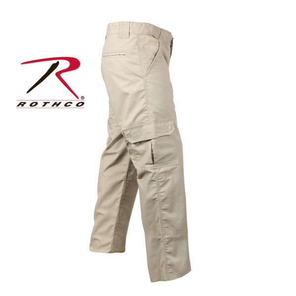 item #4665 Rothco Tactical Duty Pants in Khaki Repels Body fluids, stain resisitent, zipper fly