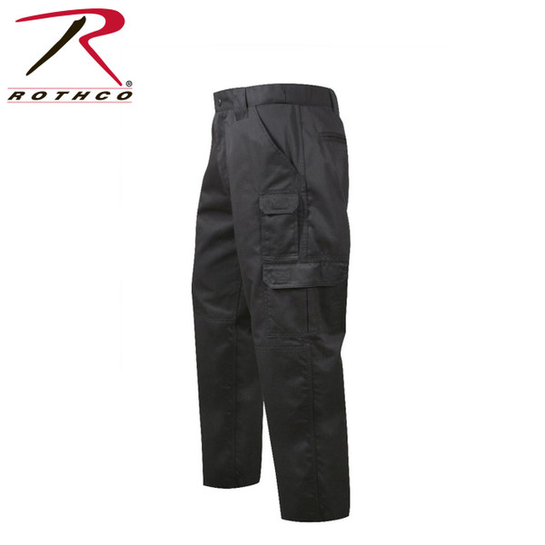 item #4765 Rothco Tactical Duty Pants in Black Repels body fluids, stain resisitent, zipper fly