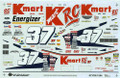 1284 #37 K Mart 1997 2nd Color Scheme Jeremy Mayfield