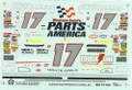 1163 #17 Parts America 1996 Darrell Waltrip