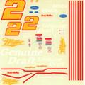 #2 Miller Genuine Draft Ford Thunderbird Rusty Wallace
