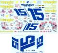 #15 Wrangler 1982-84 Dale Earnhardt Ricky Rudd