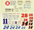 #11 Kar Kare/#12/#24 Hinson Const Co/#28 Pylon /#54 Master Chevrolet