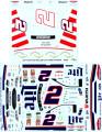 292 #2 Miller Lite 2017-18 white car & patriotic Brad keselowski