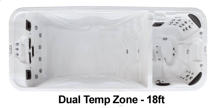 Premium Leisure Dual Zone 18 Swim Spa from Half Price Hot Tubs of Boothwyn, PA
