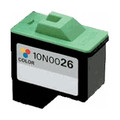 Lexmark 26 Remanufactured 10N0026 (#26) Color Ink Cartridge