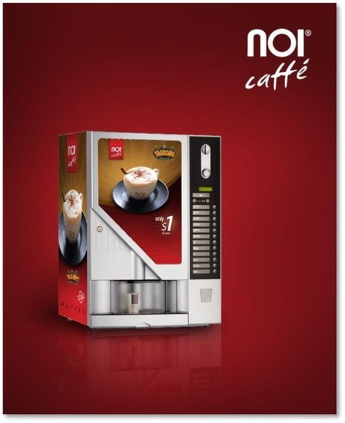 Vending Service:  Fully automated state-of-the-art cappuccino & espresso machine on a cabinet.   All inclusive service