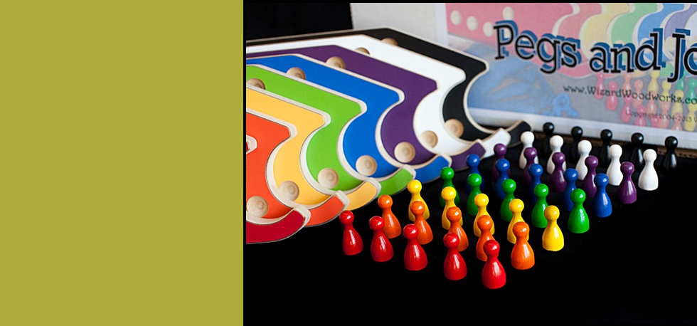Our Pegs and Jokers game comes complete with everything needed to play!