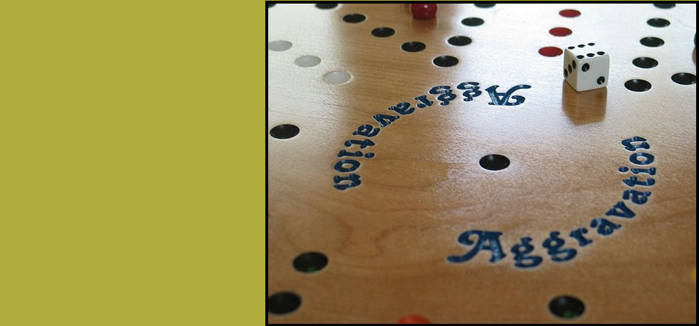 "Our beautiful 18"" wooden Aggravation game has engraved font!"