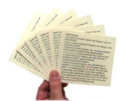 Easy reference card-value queue cards on sturdy cover stock paper