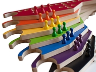 Pegs and Jokers 8 Playful colorful paddles