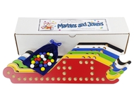 Marbles and Jokers complete 6-player game set includes 30 colorful glass marbles