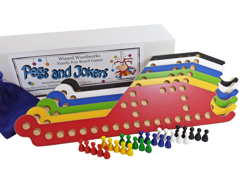 Pegs and Jokers 6-player Game.- In Stock & Free Shipping!