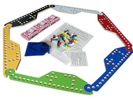 Pegs and Jokers game can be played with 2, 4, 5 or 6 players.