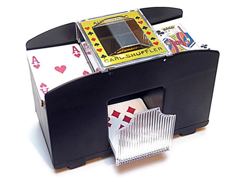 4-Deck automatic card shuffler, perfect for your Marbles and Jokers game playing!