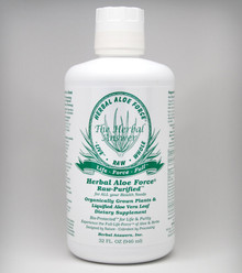 Herbal Aloe Force Liquid Dietary Supplement 32 oz.