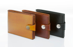 Old Reliable Leather Bifold Wallet with Snap Closure
