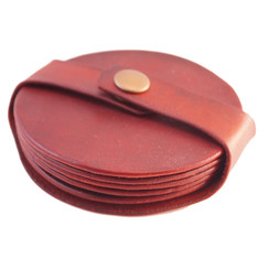 Leather coasters (5pc)