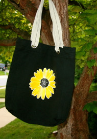 Small Sunflower Canvas Tote Bag