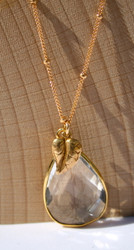 April/ Clear Quartz Birthstone Necklace