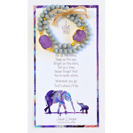 "Druzy matching bracelet set comes complete with watercolor print with an original poem that reads: ""I love you: Far as the moon, Deep as the sea, Bright as the stars, Tall as a tree, Never forget, that you're never alone. Wherever you go, that where I'll be"""