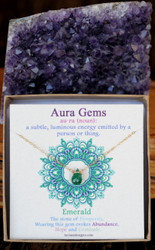 Emerald Aura Gem Necklace